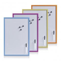 Valge magnettahvel, värviline raam