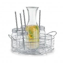 Klaaskarahvini ja joogipudelite komplekt, 8 osa