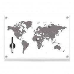 """Klaastahvel """"Worldmap"""",..."""