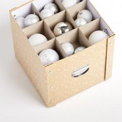 Jõuluehete karp, kreem/kuld