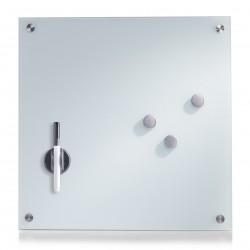 Klaastahvel, valge, 40x40 cm