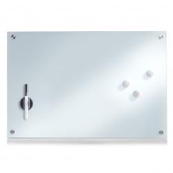 Klaastahvel, valge, 60x40 cm